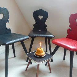 Chaise alsacienne relookée