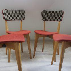 4 chaises années 50
