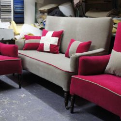 Canapé et fauteuils style anglais