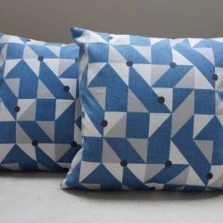 Coussin Bleu et gris