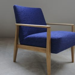 Fauteuil vintage bleu klein
