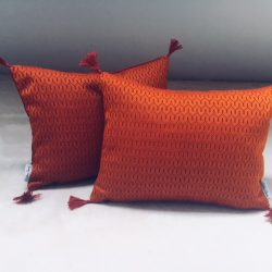 Coussin orange sanguine
